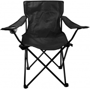Abbey Camp Silla plegable negro de 50 x 50 x 80 cm