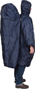 Active Leisure poncho with cover polyester dark blue one-size