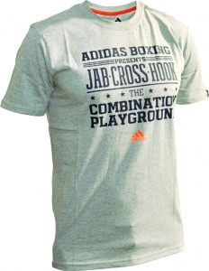 adidas Graphic Jab-Cross-Hook T-Shirt Männer grau