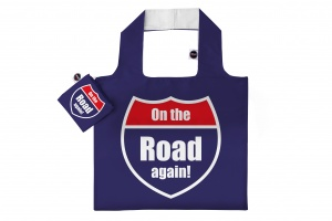 Any Bags opvouwbare shopper On the road again 48 cm blauw