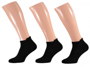 Apollo basic cotton sports socks black 3 pairs