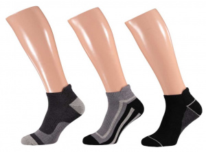 Apollo casual sports socks black/grey 3 pairs