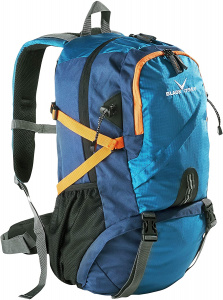 Black Crevice backpack Wyoming 35 litres polyurethane blue