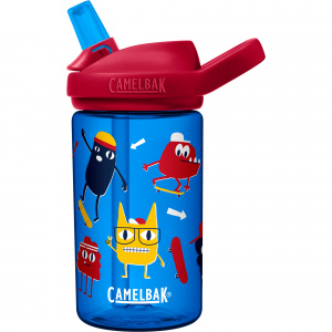 CamelBak drinking bottle Eddy+ Kids Skate Monsters 400ml tritan blue
