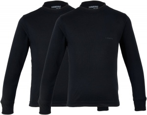 Campri Thermoshirt Thermal Top  (2-Pack) junior schwarz