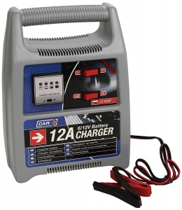 Car Plus acculader 6-12 Volt 12 Amp grijs