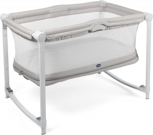 Chicco camping bed Zip & Go96 x 67 cm polyester/steel beige/white