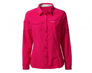 Craghoppers blouse NosiLife Adventure II dames fuchsia