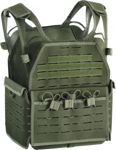 Defcon 5 platendrager Carrier PVC groen one-size