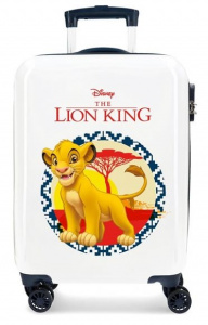 Disney kinderkoffer Lion King 55 cm ABS 37 liter wit/blauw