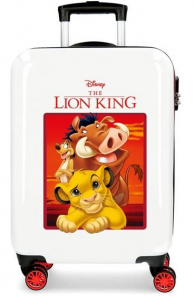 Disney kinderkoffer Lion King 55 cm ABS 37 liter wit/rood