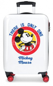 Disney kinderkoffer Mickey Magic 55 cm ABS 33 liter wit/rood