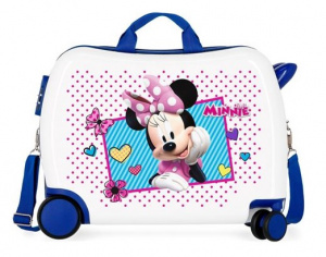 Disney kinderkoffer Minnie Joy 50 cm ABS 34 liter wit/blauw