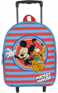 Disney trolley backpack Mickey & Pluto junior 31 cm red/blue