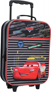 Disney trolley case Cars boys 16,8 litres polyester black/red