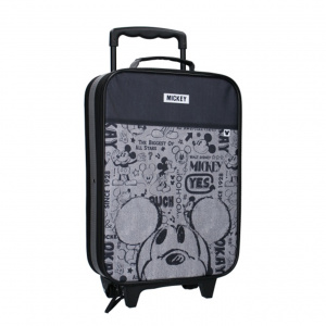 Disney trolleykoffer Mickey Mouse junior 16,8 liter polyester grijs
