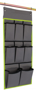 Eurotrail organizer Derby small 36 x 75 cm polyester grijs/lime