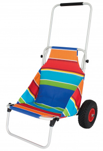 Eurotrail beach trolley Stripes112 x 72 cm polyester/aluminium