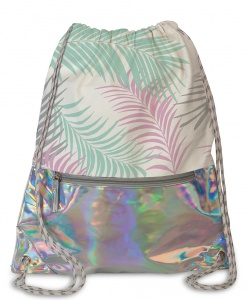 Fabrizio backpack drawstrings 37 x 45 cm silver holographic