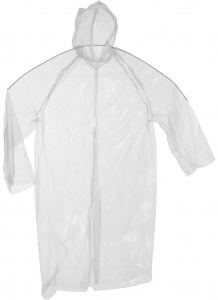Free and Easy raincoat unisex one size transparent