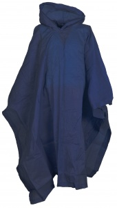 Free and Easy regenponcho unisex donkerblauw one size