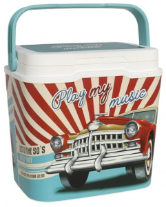Gerimport coolbox Retro Car 29 liters 39 x 52 cm blue/red