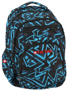 Gerimport backpack junior 36 x 43 cm polyester black/blue