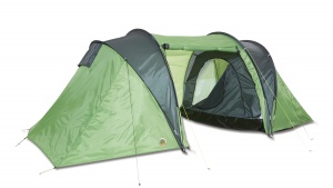 Happy People 4-person tunnel tent 420 cm green/grey