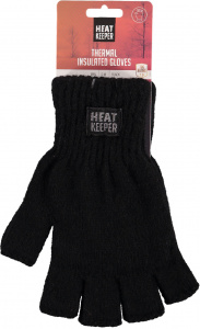 Heat Keeper gloves fingerless acrylic/polyester black