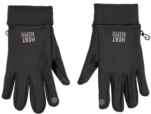Heat Keeper gloves men's polyester black