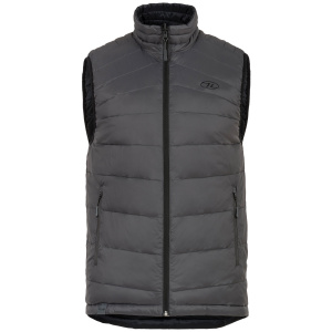 Highlander bodywarmer Reversible heren nylon grijs/zwart
