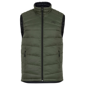 Highlander bodywarmer Reversible heren nylon groen/zwart
