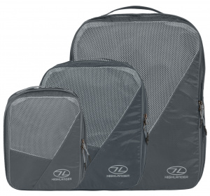 Highlander packing cubes 40 x 30 cm nylon/polyester grey 4-piece