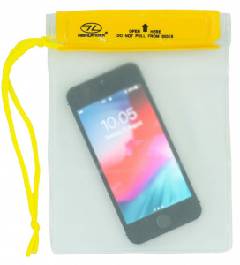 Highlander waterproof pouch 17 x 13 cm PVC transparent/yellow