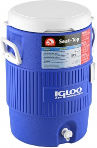 Igloo drankdispenser Seat-Top 19 liter blauw