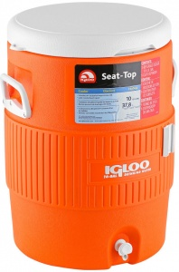 Igloo drankdispenser Seat-Top 38 liter oranje