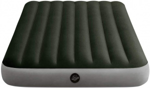 Intex air mattress with inflator pump Dura-Beam191 x 137 cm vinyl green