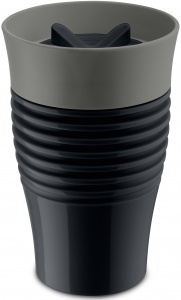 Koziol thermosbecher Safe To Go 400 ml schwarz/grau
