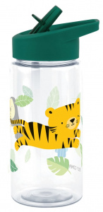 A Little Lovely Company trinkflasche Jungle junior 450 ml Polyethen grün