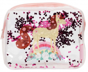 A Little Lovely Company toiletry bag Horse girls 1.5 litre PVC pink