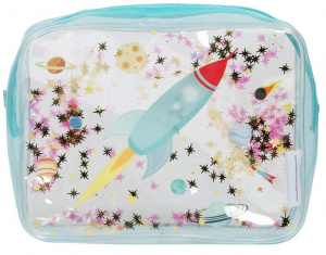 A Little Lovely Company toiletry bag Space junior 1.5 litre PVC blue