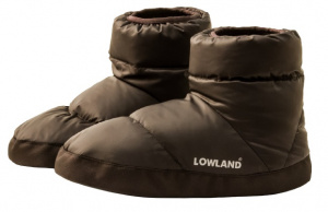 Lowland slippers Down Booties nylon/down black