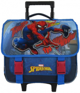 Marvel trolley backpack Spider-Man boys 38 cm polyester blue