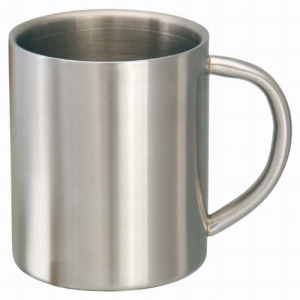 Mato drinking cup stainless steel 0,3 liter silver 9 cm