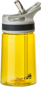 AceCamp Tritan springdeckel water bottle 350 ml yellow