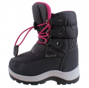 Playshoes snowboots with cord junior grey/pink