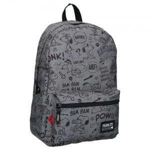 Peanuts backpack Snoopy 44 x 30 x 15 cm grey