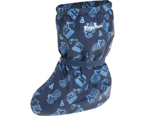 Playshoes rain overshoes with fleece lining blue