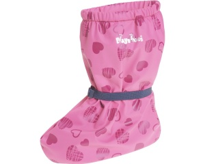 Playshoes rain shoes Heart with fleece lining girls pink