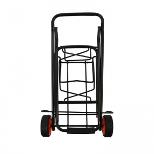 ProPlus foldable luggage trolley steel black 30 kg